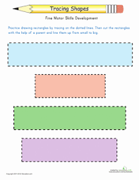tracing shapes rectangles worksheet education com