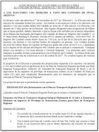 Resume Espanol Pinal Regional Transportation Authority Pinal County