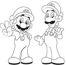 mario characters coloring pages free printable mario