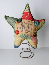 primitive cutter quilt christmas star tree topper or nodder noel