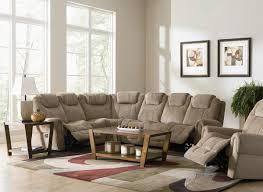 Reclining Sectional Sofa Tan Fabric Modern Motion Sectional Sofa W Optional Recliner