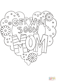 mom coloring pages get well soon mom coloring page free printable