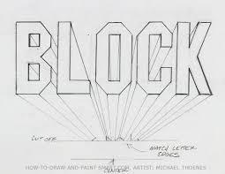 draw 3d block letters designer s kick