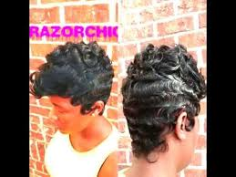 pictures of razor chic hairstyles beautiful wave technique by razor chic of atlanta youtube