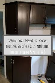 ideas about refinished kitchen cabinets pinterest here what you need know before start gel stain project check out