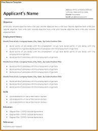 free easy resume template word easy resume template free experience your name email phone number