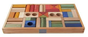 wooden story blocks rainbow 54 pieces buy at the nile