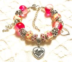 european style charm bracelet images Love pink european style charm bracelet jpg