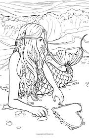 printable coloring pages of mermaids printable mermaid coloring pages cliptext co