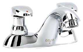 Commercial Bathroom Faucets by Delta Commercial 86t1153 Metering Centerset Bathroom Faucet