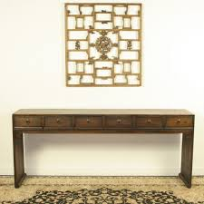 Asian Coffee Tables by Asian 79 Inch Long 6 Drawer Console Table Brown Lacquer