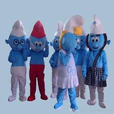 2016 selling lovely blue smurfs papa smurf mascot costume
