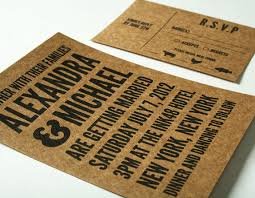 poster rsvp card stock paper for invitations by kraft krazy brown