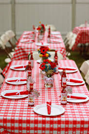 Picnic Decorations Red And White Picnic Decorations House Design Ideas
