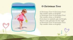 christmas song lyrics o christmas tree youtube