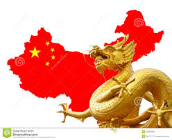 Chinese Map Chinese Golden Dragon And China Map Royalty Free Stock Photos