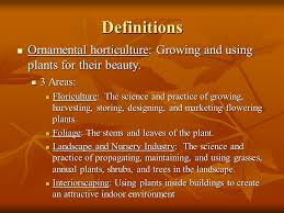 introduction to horticulture importance of plants as a table