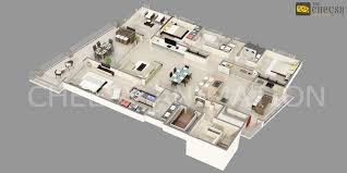 Typical House Floor Plan Dimensions 3d Floor Plan Home Office Villa Hotel Rendering