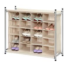 amazon com storagemaniac 5 tier 20 pair shoe rack 20 compartment