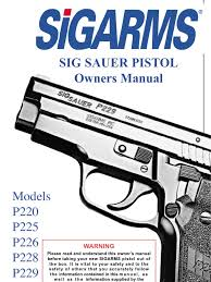 sig sauer pistols owners manual trigger firearms handgun