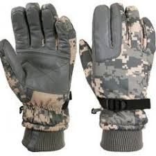 Insulated Gloves Cold Weather Acu Digital Camouflage Waterproof