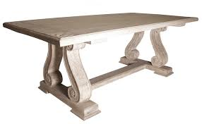 Dining Room Tables Reclaimed Wood by Trestle Dining Table Reclaimed Russian Oak Trestle Dining