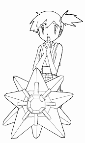 pokemon coloring pages misty misty coloring page color book