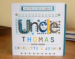 uncle birthday card etsy