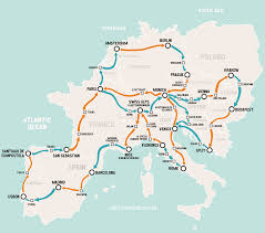 Trip Planner Map Hop On Hop Off Europe Busabout