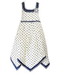 girls cotton spot dress kids party sun dresses new amazon co uk