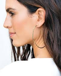 large hoop earrings gorjana laurel large hoop earrings online jewelry boutique