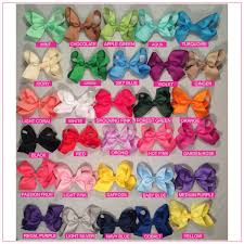 baby bow boutique 4 inch solid color hair bow bundle simply sweet alligator clip