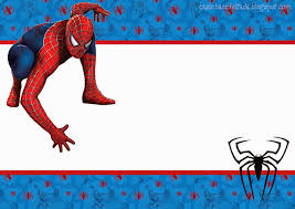 spiderman blue background free printable kit oh my fiesta for