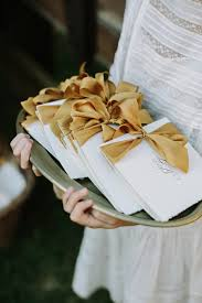 gold wedding programs autumn wedding with shades of gold gold ribbons wedding