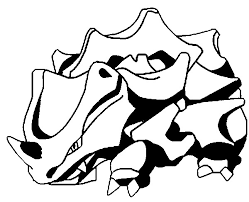 coloring pages pokemon rhyhorn drawings pokemon