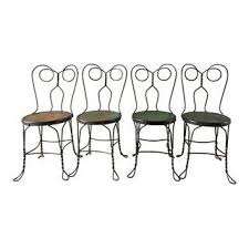 Hadley Bistro Chair Vintage Used Black Side Chairs Chairish
