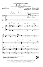 rather be arr brymer choral satb sheet by by clean