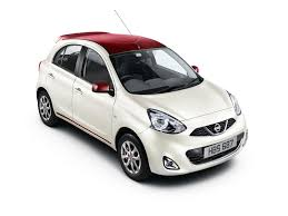 nissan white car nissan micra limited edition with contrast roof launched