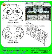 supplier wrought iron scrolls with leaves wrought iron