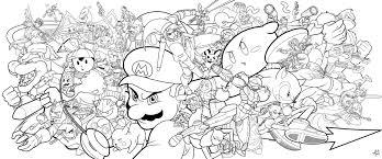 3ds super smash bros coloring pages fleasondogs org