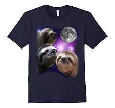 Three Wolf Moon Shirt Meme - sloth shirt three wolf moon parody meme shirt prime goatstee
