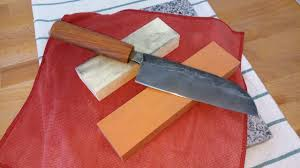 sharpening japanese kitchen knife with tyrolit 400 u0026 1200 grit