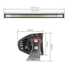 42 In Led Light Bar by Quad Row 42in 2400w Cree Led Curved Work Light Bar Combo Offroad
