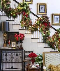 How To Decorate A Banister A Whole Bunch Of Christmas Staircase Decorating Ideas U2014 Style Estate