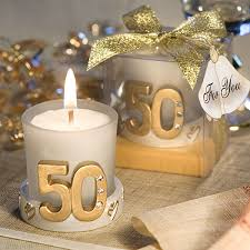 50th anniversary favors gold candle 50th anniversary favors