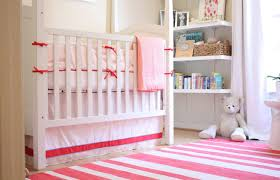 excellent girl baby nursery room decoration using light pink baby excellent girl baby nursery room decoration using light pink baby bed valance including rectangular white wood baby cribs and light pink stripe baby girl