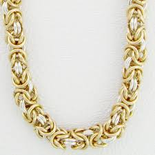 byzantine gold necklace images Handcrafted chain 14k gold filled sterling silver byzantine jpg