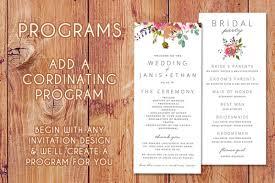 Wedding Program Order Wedding Menus U2013 Bloom On Paper