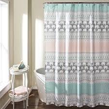 Lush Shower Curtains Lush Decor 16t000122 Elephant Stripe Shower Curtain