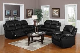 recliner sofa deals online 3 pc recliner sofa set black bonded leather buy online in uae
